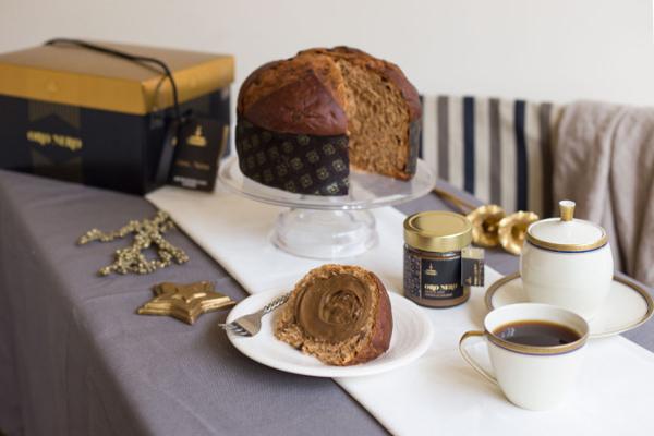 Panettone Linea Oro Fiasconaro mit Kaffee und Crème