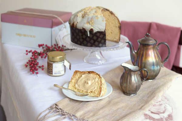 Panettone Linea Oro Fiasconaro mit Mandeln und Crème