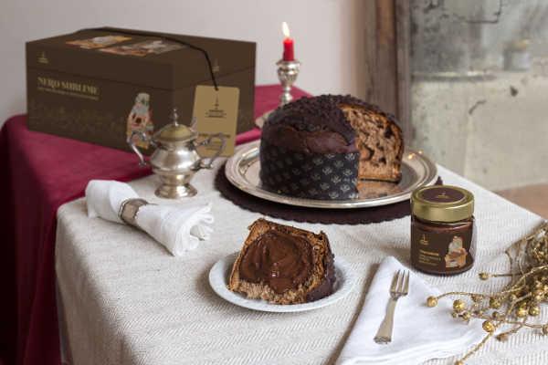 Panettone Linea Oro Fiasconaro mit Schokolade und Crème